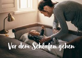 Babynahrung vor dem Schlafen gehen
