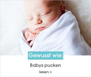 Schaue dir jetzt den Ratgeberbeitrag zum Thema Babys pucken an