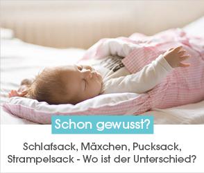 Schaue dir jetzt unseren Ratgeberbeitrag zum Thema Schlafsack, Mäxchen, Pucksack oder Strampelsack an