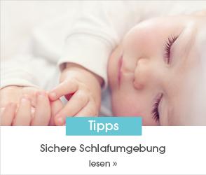 Schaue dir jetzt unseren Ratgeberbeitrag zum Thema Sichere Schlafumgebung an