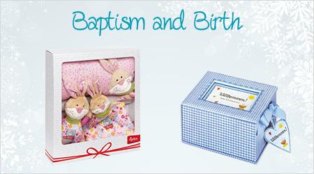 Geschenke für Taufe und Geburt