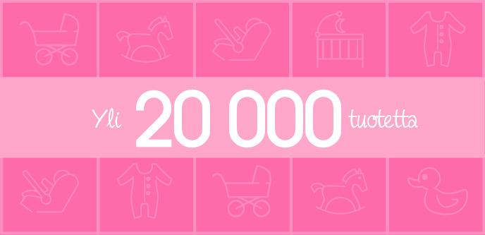 Yli 20 000 tuotetta