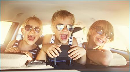 Lasten kanssa automatkalla