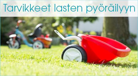 Tarvikkeet lasten pyöräilyyn