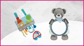 Leksaker till bilbarnstol
