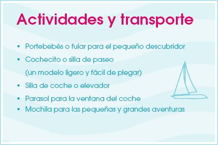 Actividades y transporte