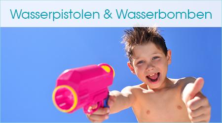 Wasserpistolen und Wasserbomben