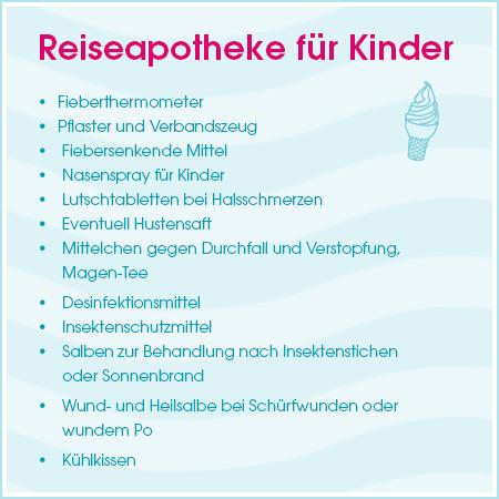 Urlaubs-Checkliste: Reiseapotheke für Kinder