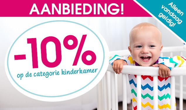 10% korting op kinderkamers