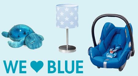 Thema we love colors blauw