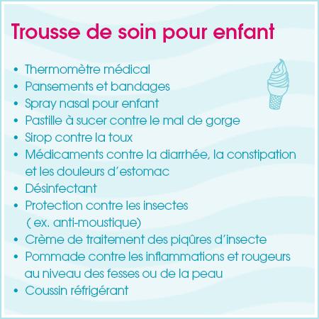 Checkliste: la pharmacie de voyage pour enfant