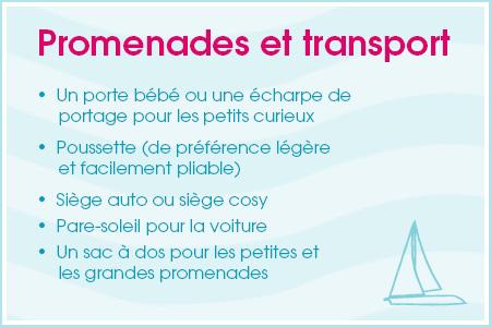 Checklist voyage: promenades et transport