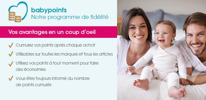Programme de fidélité – cumulez des babypoints lors de vos achats sur roseoubleu.fr