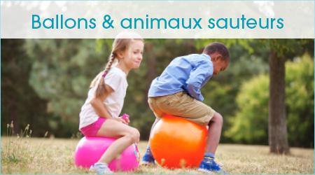 Ballons et animaux sauteurs
