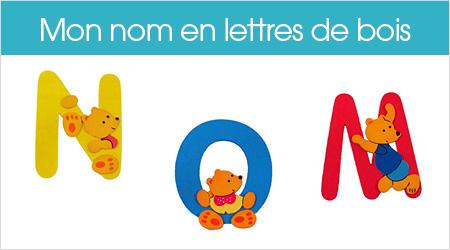 lettres en bois enfant