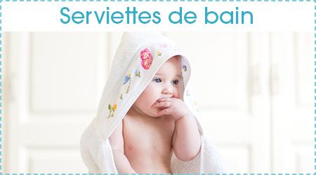 Serviette de bain bébé et enfant