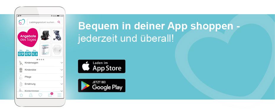 Shoppe bequem in deiner babymarkt.de App