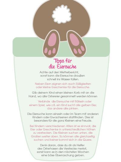 Viele Tipps für deine Kinder und dich bei der Eiersuche