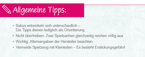 Infografik Babyspielzeug Allgemeine Tipps