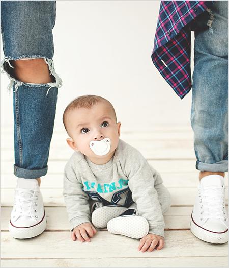 Baby mit Eltern