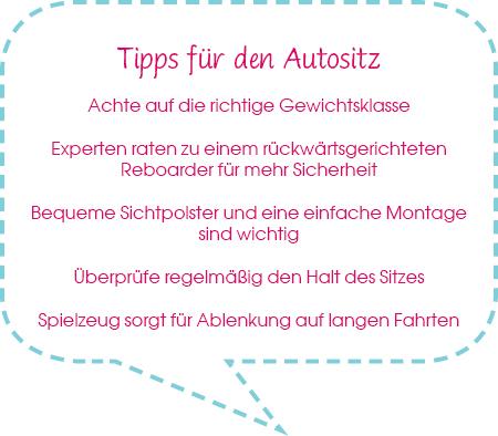 Tipps für den Autositz-Kauf