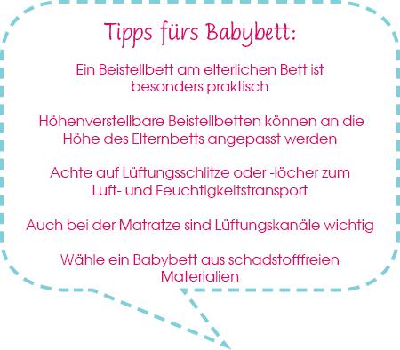 Tipps für den Babybett-Kauf