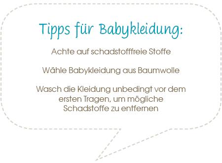 Tipps für Babykleidung