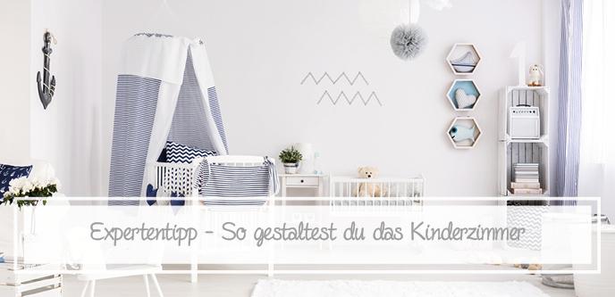 Kinderzimmer im skandinavischen Stil eingerichtet