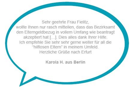 Kundenstimme Karola H. aus Berlin