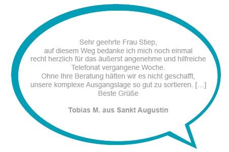 Kundenstimme Tobias M. aus Sankt Augustin