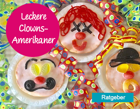 Leckere Clowns-Amerikaner