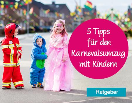 Tipps für den Karnevalsumzug mit Kindern
