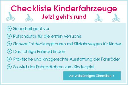 Checkliste Kinderfahrzeuge