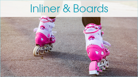 Inliner und Skateboards