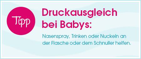 Tipp: Druckausgleich bei Babys