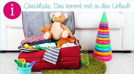 Checkliste: Das kommt mit in den Urlaub