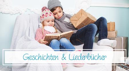 Kinder die Weihnachtsbücher lesen
