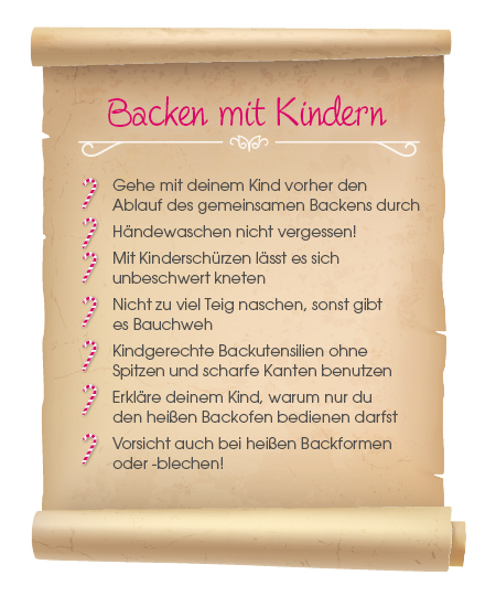 Backen mit Kindern Checkliste