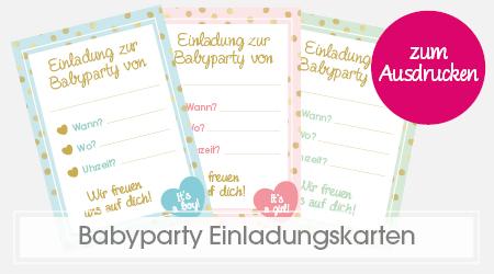 Babyparty Einladungskarten zum Ausdrucken