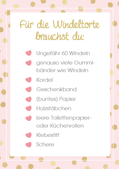 Checkliste Windeltorte