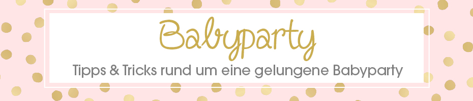 Themenwelt Babyparty Header