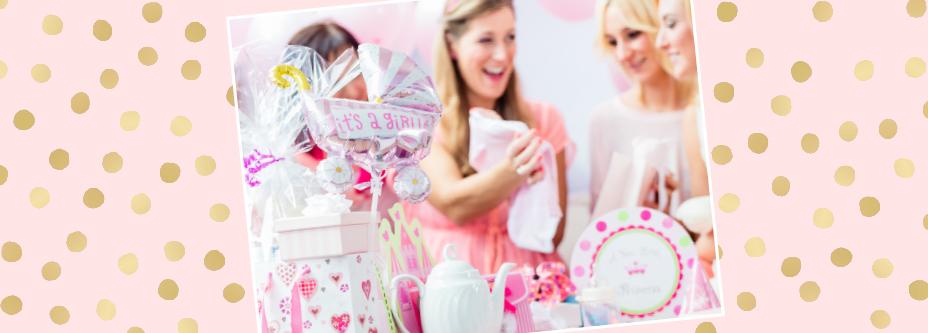Babyparty Deko Mädchen Pink