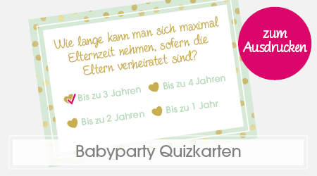Babyparty Spiele Baby-Quiz