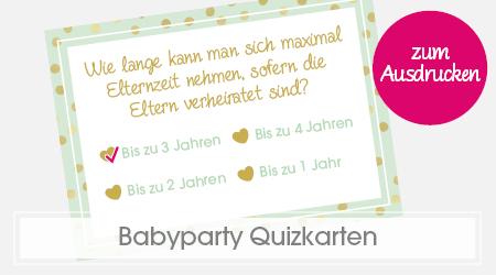 Babyparty Spiele Baby-Quiz