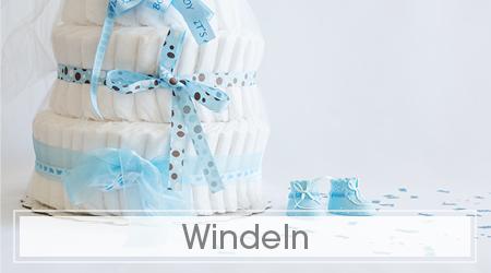 Blaue Windeltorte