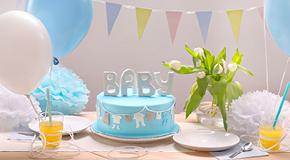 Dekorationen für eine Babyparty