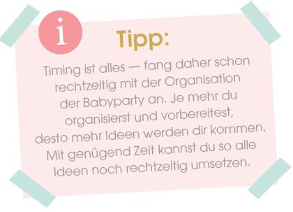 Babyparty organisieren Tipp