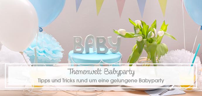 Themenwelt Babyparty - Tipps und Tricks rund um eine gelungene Babyparty
