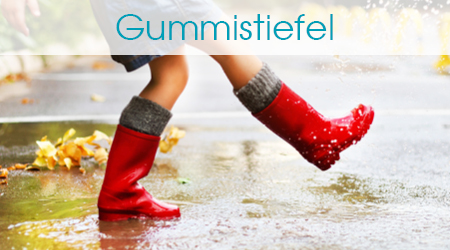 Kind in Gummistiefel