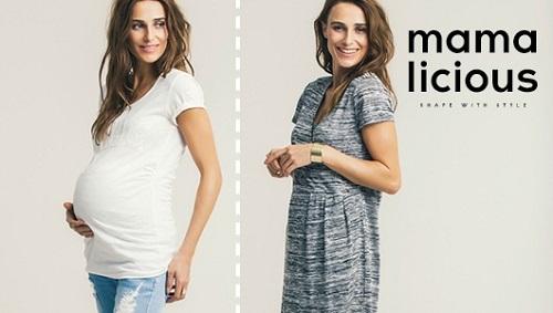 Schwangere in Umstandsmode von Mama Licious